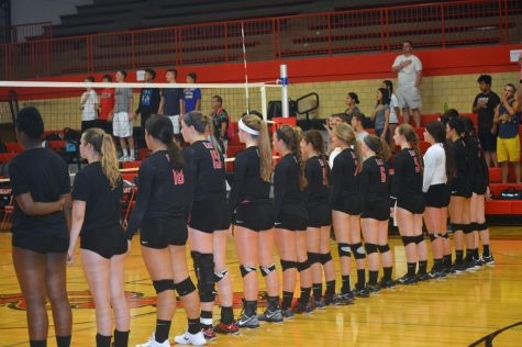 Girls play their last Volleyball Game of the Season