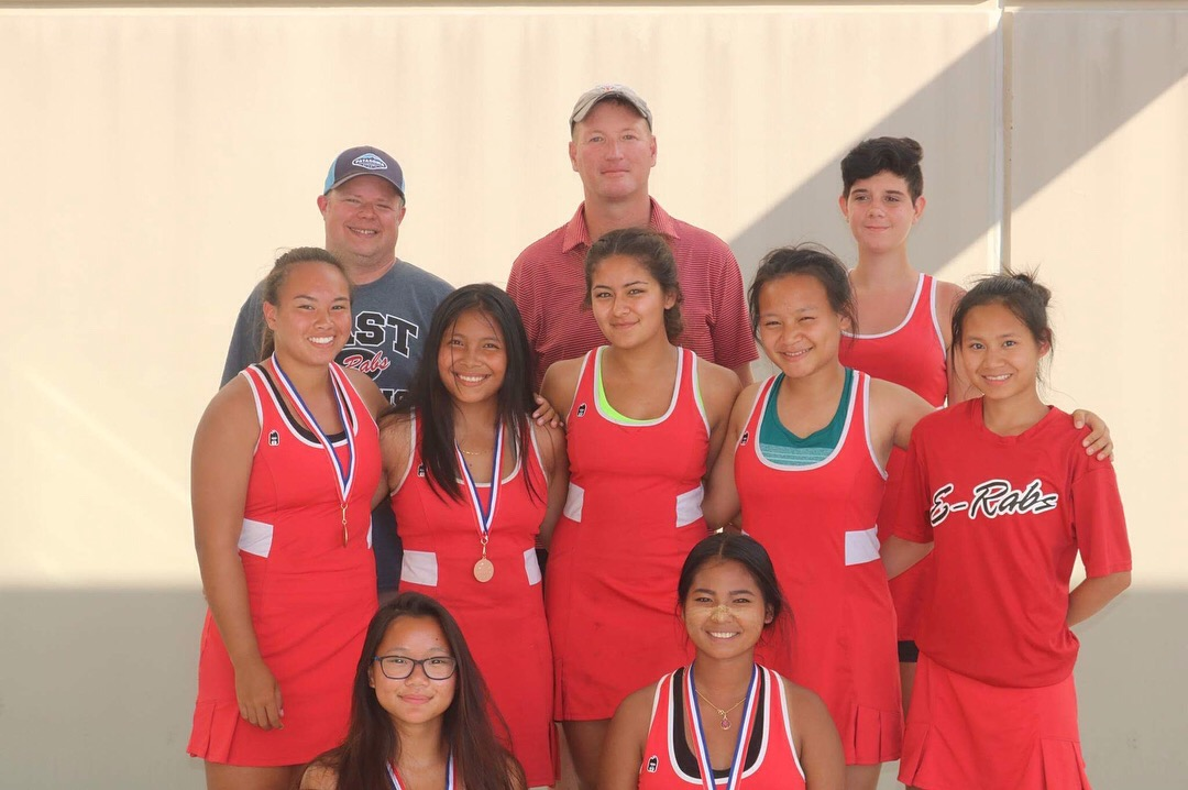 The+Lady+E-Rabs+tennis+team+who+played+in+the+Woodstock+tournament.+Taking+third+place+as+a+team+out+of+seven+schools.