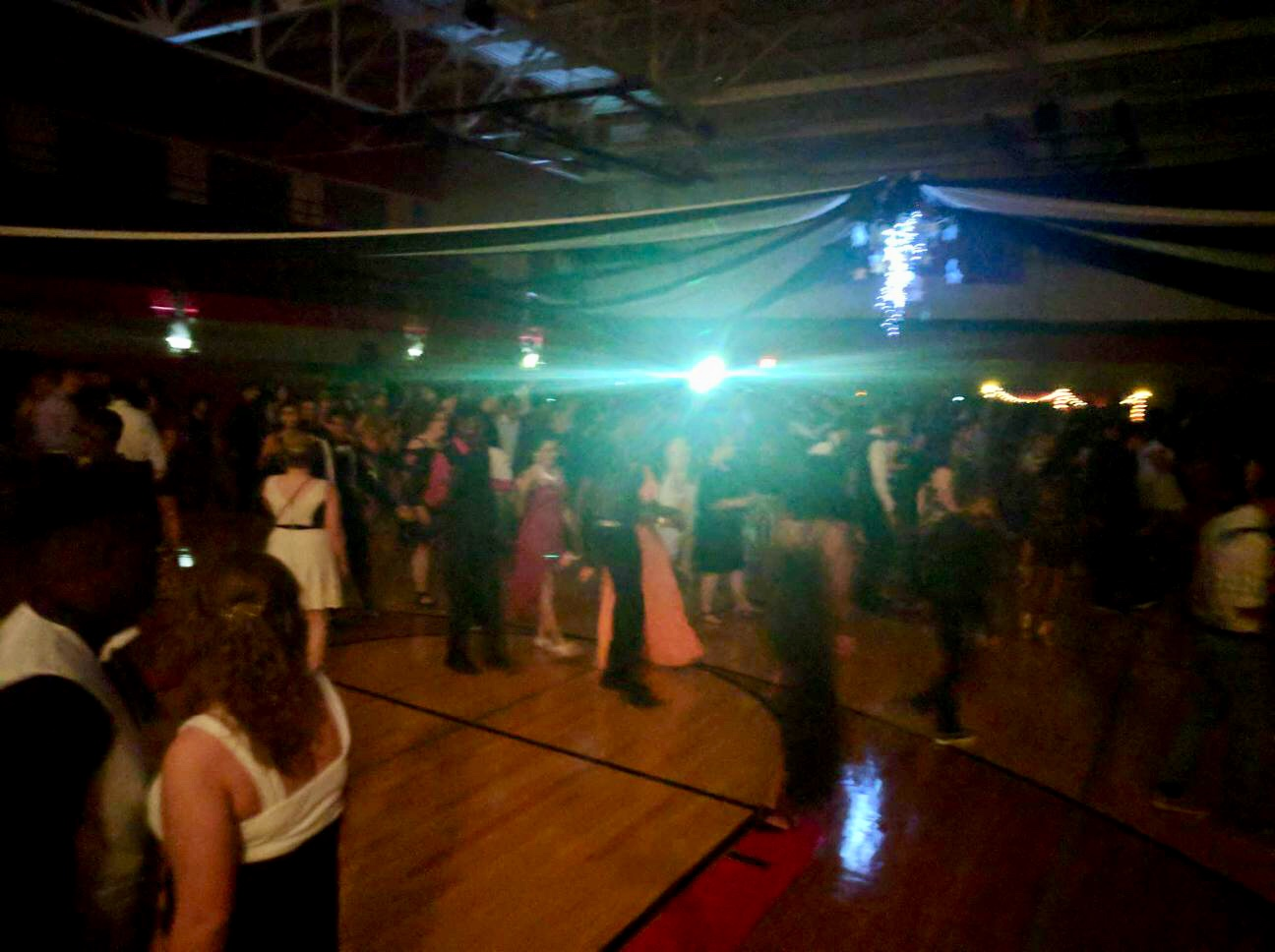 The dance began at 8pm and the doors opened to students to begin a night full of fun and dancing. East staff opened up a coat check to allow students to place their belongings into a safe place while they began a carefree night of partying.