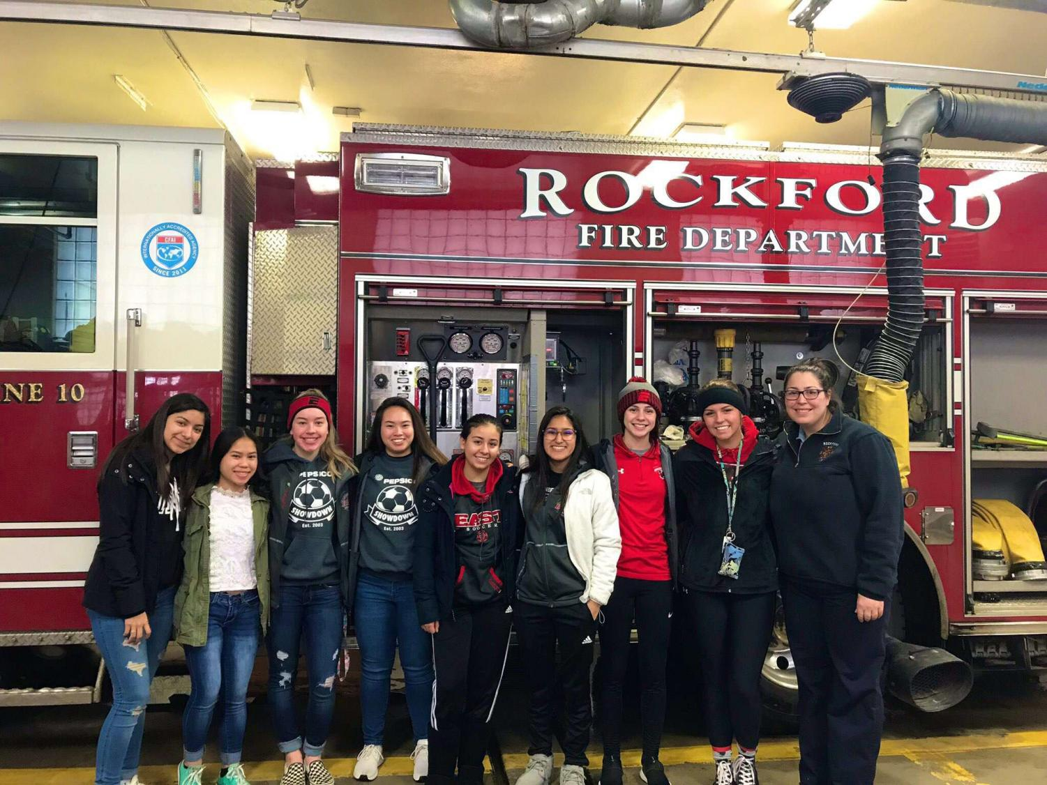 The team delivered donuts to Rockford Fire Stations 3, 10, and 11.