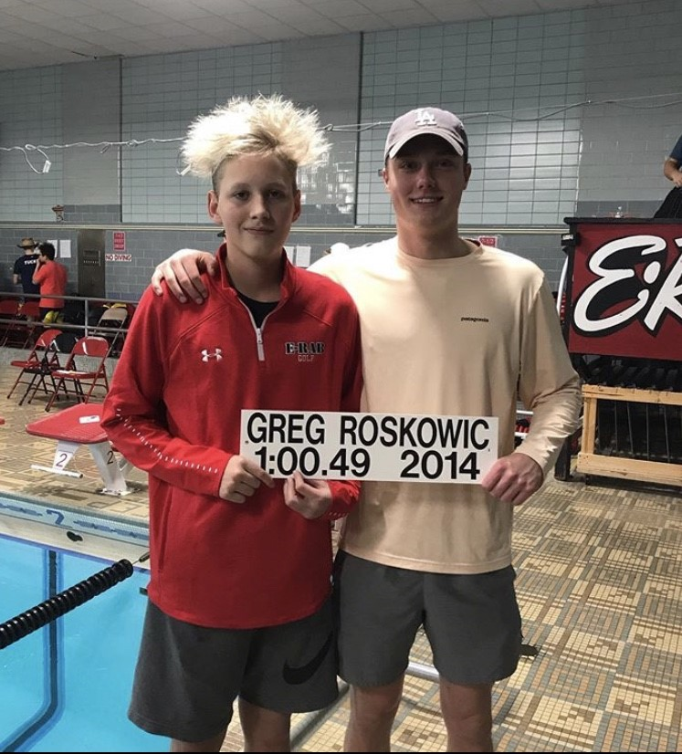Freshman swimmer shatters records